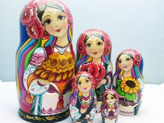 New matryoshka arrivals (original hand painted Russian Nesting Dolls.) www.matrioskas.es/en