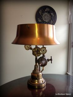 Handmade Steampunk Industrial Table Lamp Made From Vintage Antique Torch  Gauges Regulators And Recycled Parts Tesla Edison Victorian