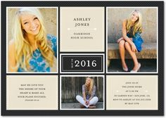 Thoughtful Outlines - Graduation Invitations - Magnolia Press - Black : Front