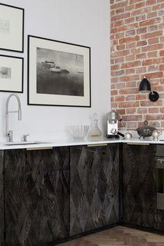 My home. Geometric Wood, Brass & Marble by Magdalena Tekieli