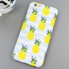 SHELL PHONE CASE FOR APPLE IPHONE 5 5S 5C 6 6S PLUS 6SPLUS IN Pineapple Stripe Design