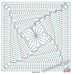 Transcendent Crochet a Solid Granny Square Ideas. Inconceivable Crochet a Solid Granny Square Ideas. Crochet Squares, Point Granny Au Crochet, Crochet Motifs, Crochet Square Patterns, Crochet Blocks, Crochet Stitches Patterns, Crochet Diagram, Crochet Chart, Crochet Designs