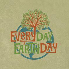 b2c8daadb Every Day Is Earth Day Organic Clay-Dyed T-Shirt ($15) via