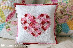 Shabby Heart Pillow tutorial || Little Miss Shabby