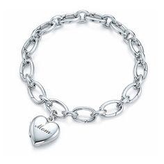 Tiffany And Co Mom Heart Charm Bracelet #jewelrylover