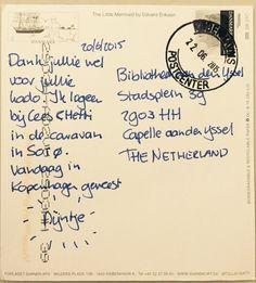 Wat attent van Nijntje! Er is een kaartje van haar uit Denemarken bezorgd bij de Bibliotheek aan den IJssel.