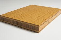 Benkeplate 40mm vertikal caramel bambus