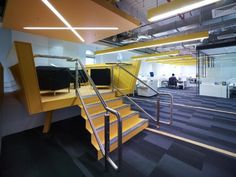 A gallery of shortlisted projects in the Workplace Design category of the 2012 Australian Interior Design Awards. Office Space Design, Workplace Design, Office Spaces, Australian Interior Design, Interior Design Awards, Corporate Interiors, Cool Office, Coworking Space, Offices