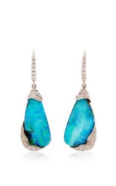 Zozo Boulder Opal And Diamond Earrings by Mimi So for Preorder on Moda Operandi