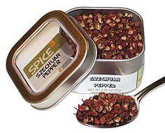 Szechuan Pepper Tin - http://spicegrinder.biz/szechuan-pepper-tin/