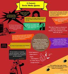 15 fantásticas frases sobre Redes Sociales. #infografia