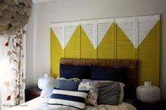 Portas e janelas na cabeceira de cama - Closet Criativo | Blog sobre decoração e inspirações