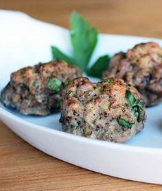 Paleo Meatballs (Can be duplicated with ground Pork & Turkey meat. I prefer a mixture of 80% pork 20% turkey)