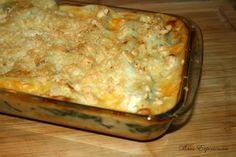 Receitas práticas de culinária: Lasanha de frango, espinafres e cogumelos frescos