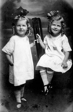 +~+~ Antique Photograph ~+~+    Smiling sisters.