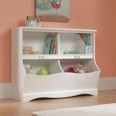 Toy Storage Organizer Playroom Book Shelf Furniture Kids Box Chest Bin White #toystorage #toychest #toyorganizer #kidsbookshelf