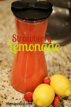Simple Strawberry Lemonade Recipe, Great Summer Picnic Beverage
