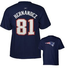 Official New England Patriots ProShop - Aaron Hernandez  81 Name Number Tee  New England a6210cccb