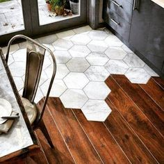 Cool tile-hardwood effect