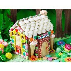 Magic forest house cake recipe - By Australian Women's Weekly, This Hansel and Gretel inspired, magic forest house cake is a fun one to get the…