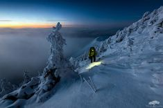 Climbing Malá Fatra Mountain After Sunset, Slovakia Photography By: Marian Krivosik