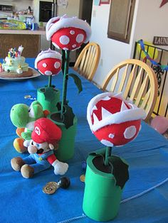 Hanging by a Silver Lining: A SUPER Super Mario Bros. Birthday Party - Lets A-GO!