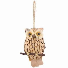 Woodland Owl Ornament. Would love to have one of these cuties in my Christmas tree