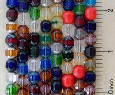100 Preciosa Fire Polished Czech Glass Assorted Mix Rosary 8mm Cathedral Beads #PreciosaOrnela #FirePolished