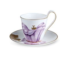 Flora High handle cup and saucer - Morning Glory