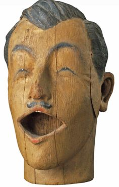 1890's Carved American Carnival Head