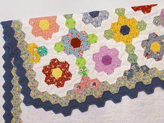 Grandmothers Flower Garden quilt by Robin Atkins, detail