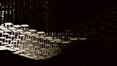 LivingSculpture 3D Module System    Berlin-based Christopher Bauder from WHITEvoid teamed up with Philips to create the LivingSculpture 3D module system. Made using Organic Light Emitting Diodes (OLEDs), an exciting light technology, the sculpture consists of tons of small mirror-flat panels that seem to undulate and flow like the ocean overhead.