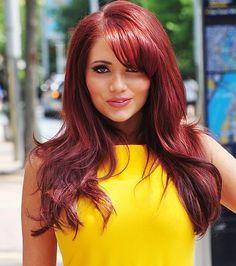Amy Childs - excellent hair colour.