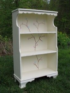 Girls Room Bookshelf with a Tree - DIY   www.FunCycled.com