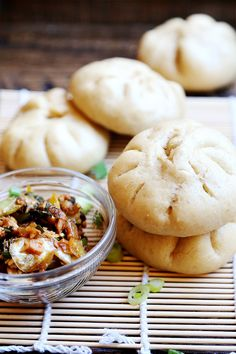 Sweet Onion, Garlic and Tempeh Steamed Buns