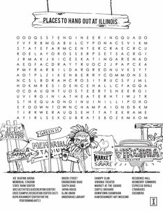 Places to Hang Out at Illinois: A Word Search