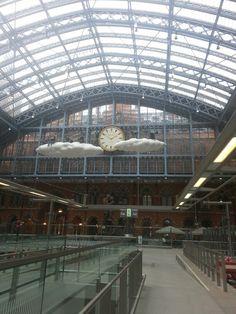 St. Pancras Train Station in London... taking Euro Star to Paris