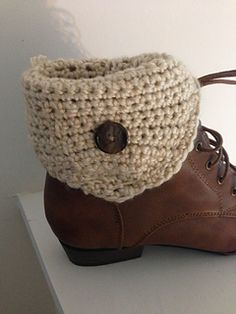 Fold Over Button Boot Cuffs Crochet Pattern by Silvermoon Creations
