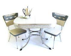 RESERVED Vintage Dinette Set Formica Kitchen by stonesoupology, $321.00