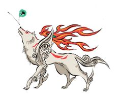 Issun, bouncing on Amaterasu's nose, Okami!