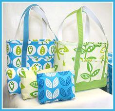 J. Caroline Tote Bag Sewing Tutorial : Free PDF || PatternPile || #freepattern