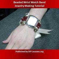 Jewelry: Beaded Wrist Watch Band