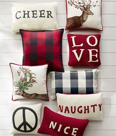 Accenting your home with our decorative pillows is a perfect way to add holiday cheer your home!