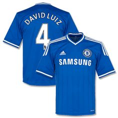 football shirts adidas chelsea home shirt 2013 2014 david luiz 4 34b5588d4f80b