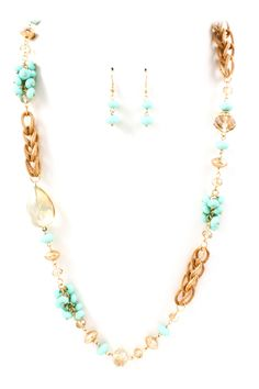 Turquoise Riley Necklace Set