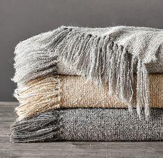 Alpaca Bouclé Weave Oversized Bed Throw Alpaca Wool, Sheep Wool, Best Sheets, Pick Stitch, Velvet Bed, Metallic Yarn, Satin Stitch, White Bedding, Bedding Collections