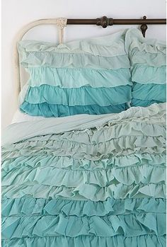 Tonal Waterfall Ruffle Sham - Set of 2 $49