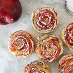 Impress your guests with this beautiful rose-shaped dessert made with lots of soft and delicious apple slices, wrapped in sweet and crispy puff pastry Cooking with Manuela: Apple Roses