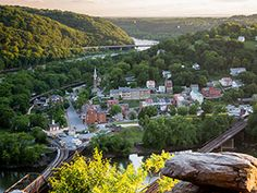 Harpers Ferry from the top of Maryland Heights.