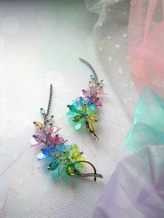 ...procházka duhou Brooch, Jewelry, Beads, Jewlery, Jewerly, Brooches, Schmuck, Jewels, Jewelery